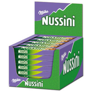 (16,32€/1kg) Milka Nussini Haselnuss, Riegel, Schokolade, 35 Stück