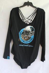 NFL TEAM APPAREL (3X) Bodysuit Caged Back CAROLINA PANTHERS Football MSRP $32.99