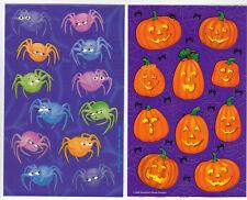 Vintage Sandylion Halloween Sticker Sheet Lot - Pumpkin Spider Jack O Lantern