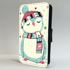 Christmas Owl Snowy Cute FLIP PHONE CASE COVER for IPHONE SAMSUNG