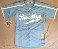 1947 Jackie Robinson Brooklyn Dodgers Light Blue Jersey Size Men's Large