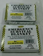 2 Mayday Emergency Survival Blanket,Disaster, Bug-Out-Bag,First Aid,Camping