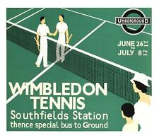 Wimbledon Tennis Poster Fine Art Lithograph Andre Edouard Marty S2
