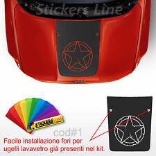 Adesivo cofano Jeep Renegade STELLA fori lavavetri sticker for jeep bonnet cod#1