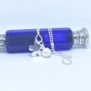"""Sterling Silver Pearl and Daisy Necklace, 45cm / 18"""" Ball Chain"""