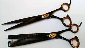"""7.5"""" Gift set pets grooming hairdressing & thinning scissor dog cat grooming cut"""