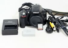 Nikon D3300 24.2MP Digital SLR Camera BLACK Body ONLY 11K SHUTTER COUNT
