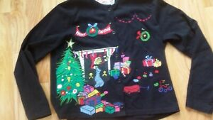 Michael Simon Dr Seuss Grinch Cardigan Christmas Medium Embroidered
