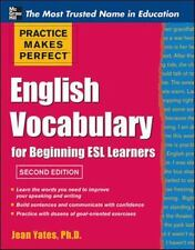 ENGLISH VOCABULARY FOR BEGINNING ESL LEARNERS - JEAN YATES (PAPERBACK) NEW