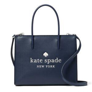 NWT KATE SPADE NEW YORK Trista Leather Shopper Shopper Nightcap WKR00384 FREE SH