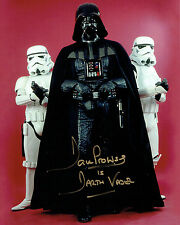 Dave PROWSE SIGNED Autograph Darth VADER Star Wars 10x8 Photo H AFTAL COA