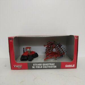 ERTL 1/64  Case IH STX Quadtrac with Field Cultivator set
