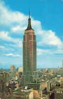 Postcard Empire State Building New York City Posted 1963