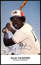 ELLIS VALENTINE HAND SIGNED auto AUTOGRAPH ON MONTREAL EXPOS TEAM PHOTO CARD