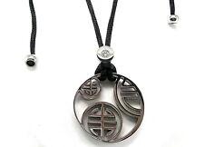 Amulett Talisman Rune Kelten Halskette Edelstahl Anhänger Schwarz Seide 60 cm