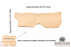 Import Tooling Vegetable Tanned Leather Shoulders 8/9 oz. 4-6 Sqft.