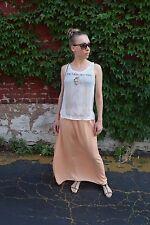 Zara long peach Maxi skirt with elastic waist, Size S