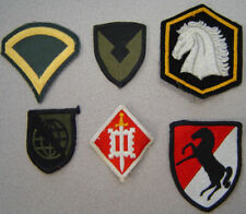 23 Military Patches - United States Army, Navy, Boy Scouts, Etc.