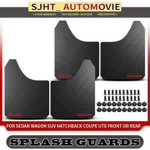 4 Pcs Universal Black Splash Guard Fender Mud Flaps for Holden Commodore VE VT