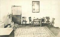 Arts Crafts Furniture Interior C-1910 RPPC Photo Postcard 20-521