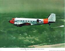 Douglas-Air Force C-47 Skytrain Print R G Smith January 1964  #4-61 14x11