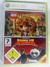 INDIANA JONES LEGO  y KUNGFU PANDA XBOX360 - 2 juegos x 1
