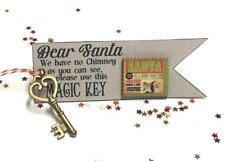 Santa's Magic Key Christmas Decoration Eve Door Chimney - Vintage Santa