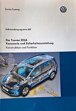 VW SSP 549 Der Touran 2016 Karosserie und Sicherheitsausstattung
