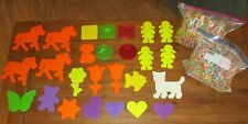 Perler Fuse Beads 5 lbs 26 Template Peg Boards Mixed Lot