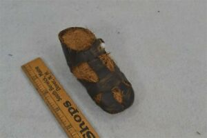 old early antiq childs shoe unusual sandal hand made leather 18th 19th c 1800