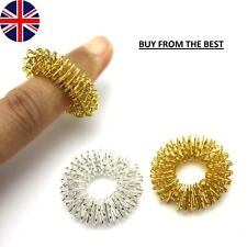 2 Pcs Finger Massage Acupuncture Ring Massager Acupressure Therapy Relaxation UK