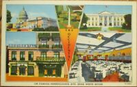 Washington, DC 1940s Postcard: The Occidental Hotel, Restaurant - DOC