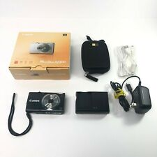 Canon PowerShot A2300 16MP Camera Black W/ Extras Tested Working