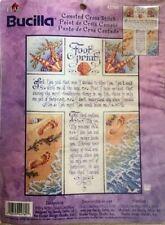 "Bucilla Counted Cross Stitch Chart ""Footprints"" #42760 2001 Sandy Orton"
