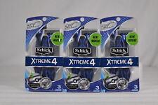 Lot of 3 Schick Xtreme 4 Disposable Razors w/Titanium Coated Blades - 9 total