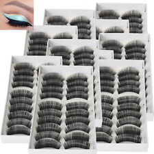 100 Pairs Black Cross False Eyelashes Makeup Natural Fake Thick Eye Lashes Set