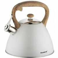 Whistling Kettle 3.0 L Stainless Steel Grey Crem induction GAS STOVE TOP Modern