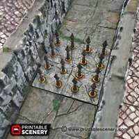 Pathfinder DnD Clorehaven Goblin Grotto Scatter D/&D Library Furniture Set