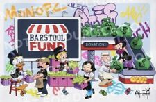 Alec MonopolyMonopz Saves Small Biz Signed Print Barstool In Hand Ships Today