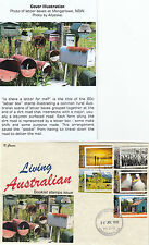 """2012 Living Australian set of 5 booklet stamps on limited edition """"K"""" Covers FDC"""
