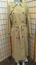 Fleet Street Trench Coat Full Length Double Breasted Liner Womens Size S