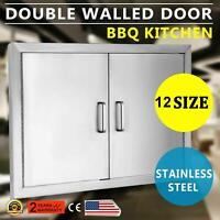 12-Sizes BBQ Double Single Doors Drawer Outdoor Kitchen Stainless Steel Access