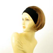 Stirnband Perücke kurze frau Dunkelblond Docht blonde klar  AMANDA 6bt27b