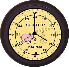 24 Hr. Clock for Ham amateur Radio Operator  (Black Frame)