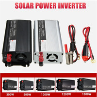 300W-1500W Solar Power Inverter DC12V to AC220V Modified Car Sine Wave Converter
