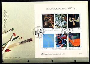 Portugal Block 68 FDC Paintings Des 20. Century