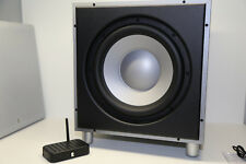Revel Concerta B120 High-End Aktive 300W Subwoofer in Silber + Wireless Adapter