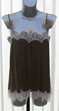 M&s Limited Edition Sizes 6 8 10 12 14 16 18 Lace Trim Cami Camisole Top Khaki Mix 12