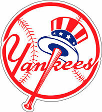 "New York Yankees MLB Baseball sticker wall decor, Large vinyl decal, 9.5""x 10.5"""