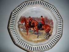 C S BAVARIA CARL SCHUMANN PLATE HARD TO FIND HUNTING SCENE  7""